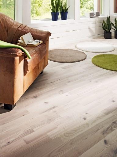 Ljusa golv får rum att upplevas som större