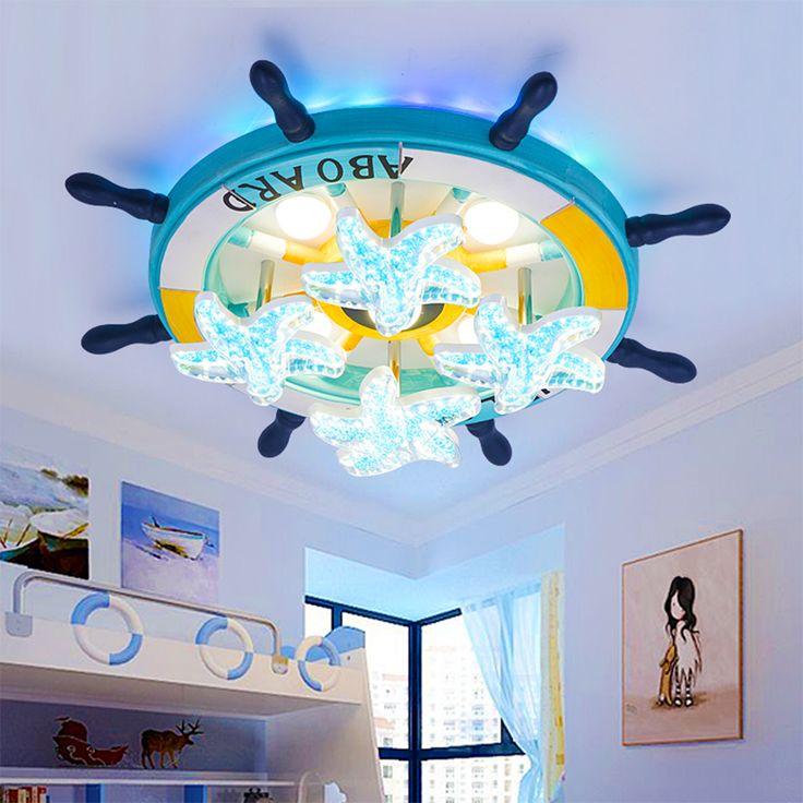 HGhomeart Mediterranean Cartoon Kids Ceiling Lamps 110V-220V Flush Mount Ceiling Light Luminaria Home Lighting Led Lamps #Affiliate