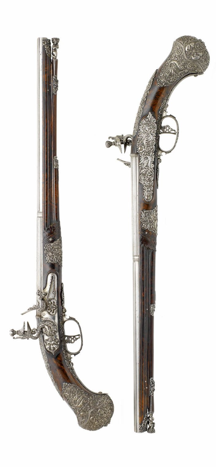 A Magnificent Pair Of Brescian Flintlock Holster Pistols - By Pietro Manani, Circa 1660-70.