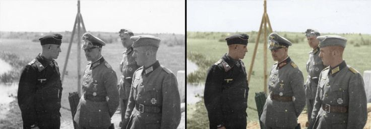 Walter Model (centre) German general and later field marshal as Commander of the 3rd Panzer Division on the Eastern front, July 1941