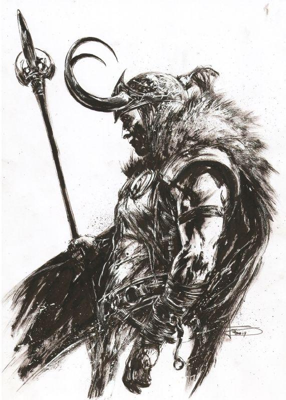 """siege-loki-problems: """" Loki by Leonardo Manco """""""