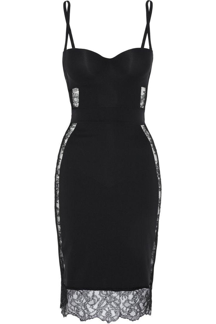 La Perla|Shape Allure lace-trimmed stretch-jersey slip|NET-A-PORTER.COM