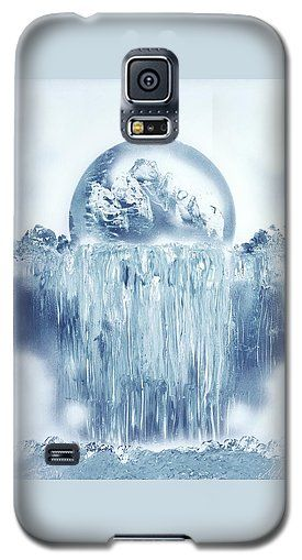 Ice Waterfall Galaxy S5 Case Printed with Fine Art spray painting image Ice Waterfall by Nandor Molnar (When you visit the Shop, change the orientation, background color and image size as you wish)