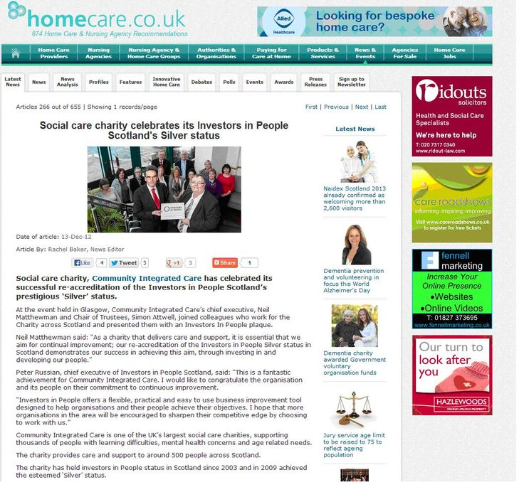 Social care charity Community Integrated Care awarded IIP Silver