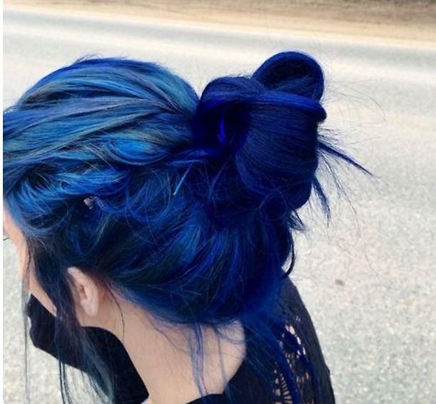 koyu mavi saç renkleri 2017
