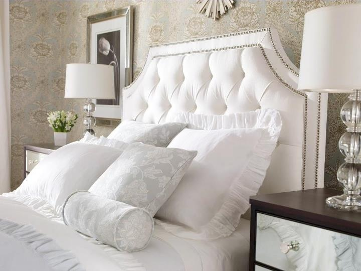 love this tufted headboard beautiful monochromatic bedroom bedroom