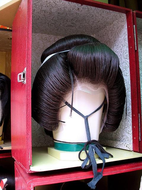 Geisha wig, Denboin-dori, Asakusa, Tokyo, Japan: Photo