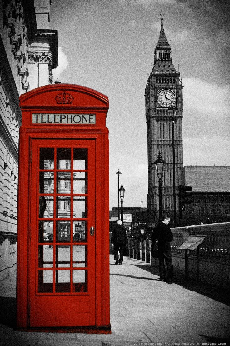 Photo: Red Telephone Box, London, England, UK by Michael Hoffman