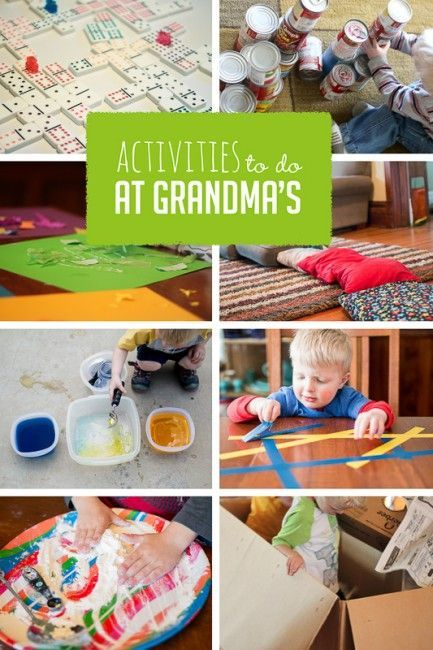 Fun activities to do while the kids are at Grandma's house - simple with supplies grandma has.
