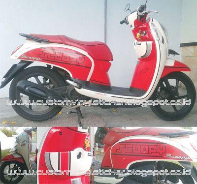 Honda Scoopy F1 Red - Custom Stripe & Text (Part 3...