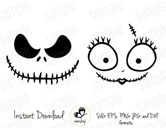 Jack And Sally Instant Download Svg Files Products