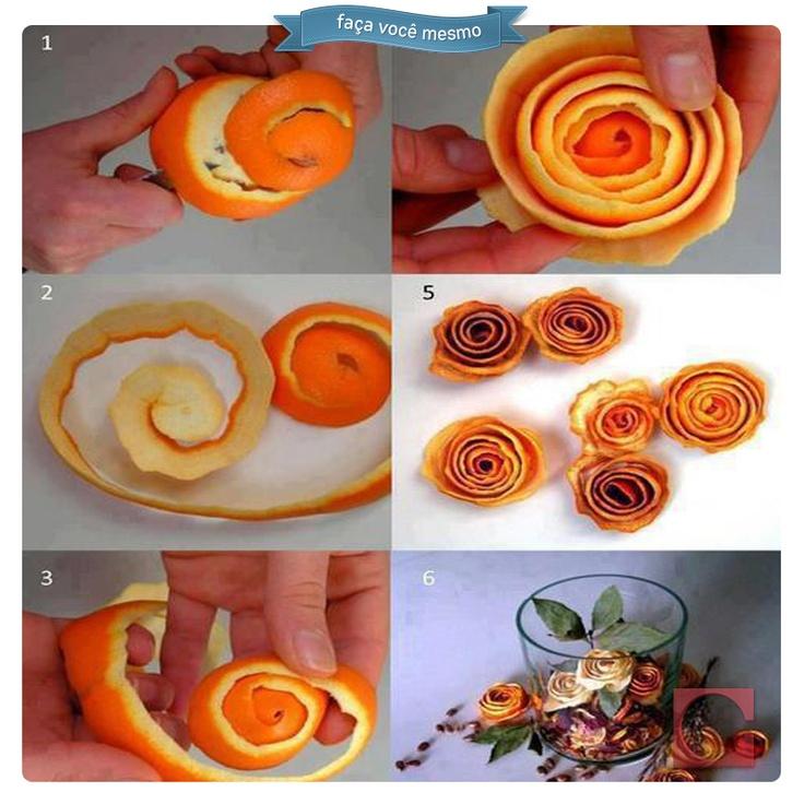Cheiro bom! Use cascas de laranja em sua casa para aromatizar ambientes.