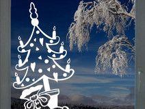 Weihnachtsbaum - Fenstertattoo - Wunschfarbe