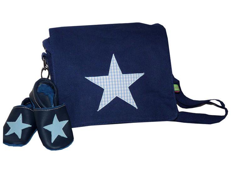 Kindergartentaschen - Set Kindergartentasche Stern + Lederschuhe - ein Designerstück von wurzel-zwerge bei DaWanda