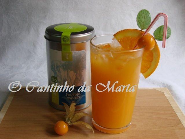O Cantinho da Marta: Sumo Natural de Laranja e Físalis com Chá Hortelã ...