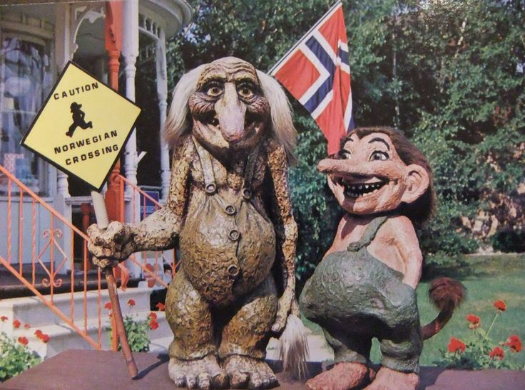 The town celebrates its Norwegian heritage through the mythological trolls ...