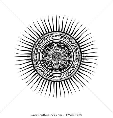mayan sun symbol es de los mayas