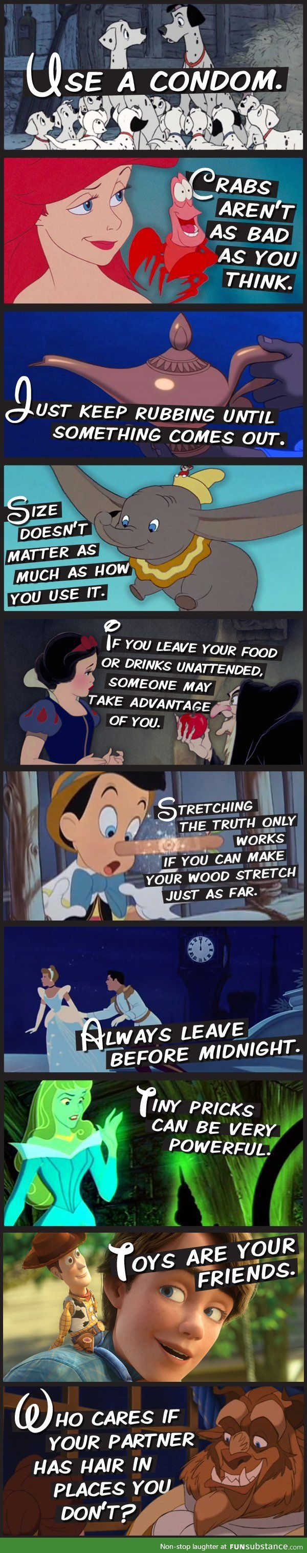 10 lessons to be learned from Disney... too funny