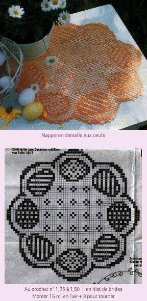 Easter egg doily