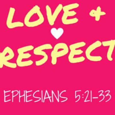 Studying Ephesians 5:21-33, I find a beautiful picture of marriage and how it relates to Christ's love for the church. Love & Respect are the greatest need