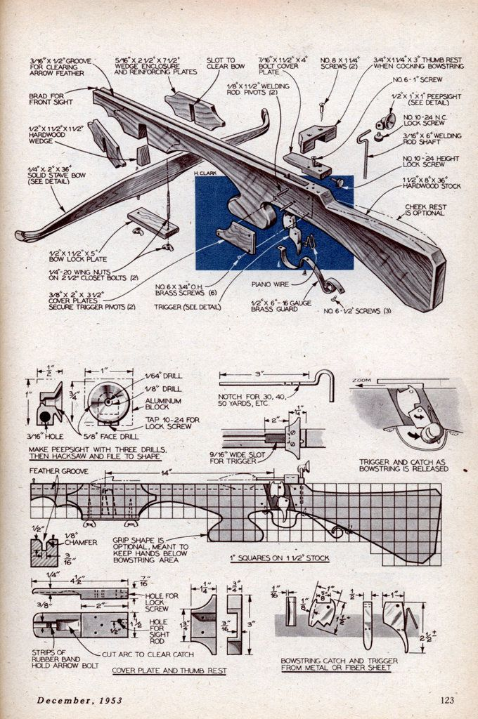 I built one of these for a sixth-grade history project back in the day; How to build a crossbow.