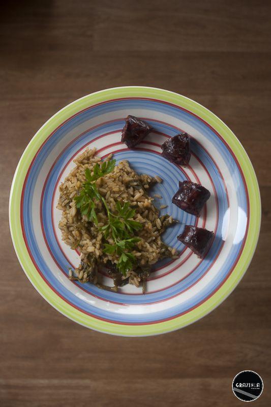 Arroz de espigos com morcela de massa assada http://vidadedesempregada.blogs.sapo.pt/receitas-rapidas-arroz-de-espigos-com-133901