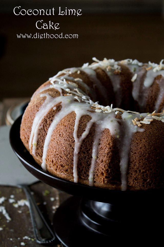 Coconut Lime Cake | www.diethood.com | This Coconut Bundt Cake has a wonderful, sweet, rich coconut flavor that is complemented by a light hint of lime |