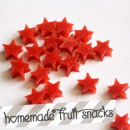 Homemade Fruit Snacks - made these! Used honey instead of sugar, prolly didn't even need to sweeten. Will prolly cook it down some more for next time.