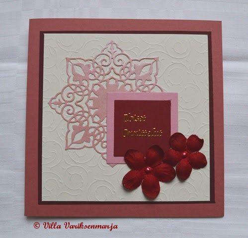 http://villavariksenmarja.blogspot.fi/2014/11/sinisia-punasia.html  Hand made cards - käsintehtyjä kortteja