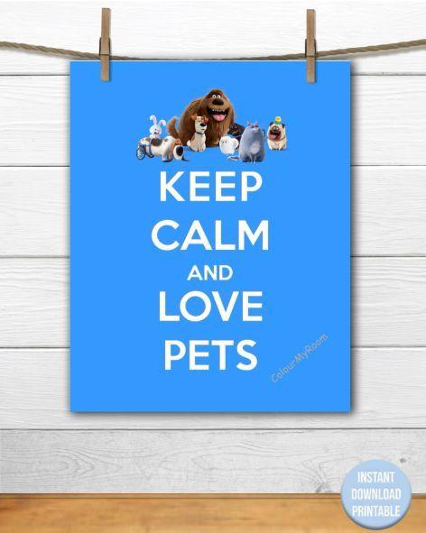 BEHALTEN SIE RUHE und lieben Sie Haustiere druckbare 8 x 10 Baby von ColourMyRoom   – Keep Calm Party Printables