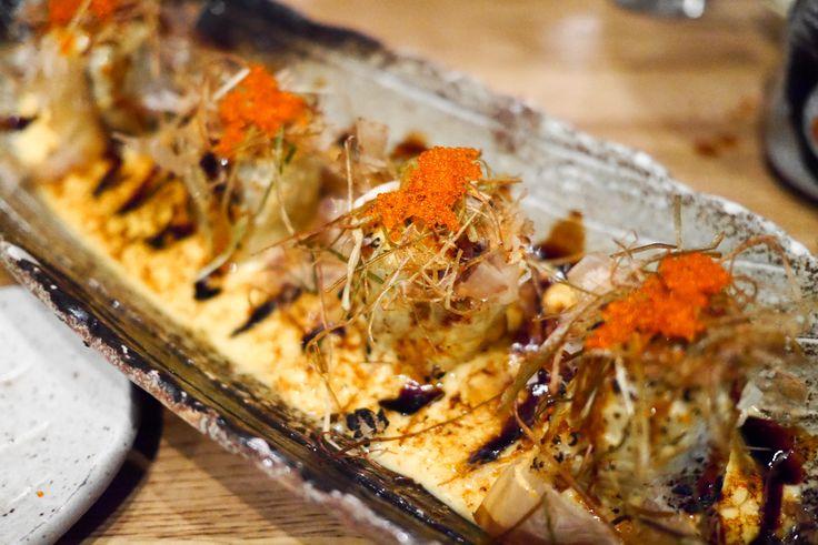 Dragon maki (jumbo prawn, avocado, tobiko, asparagus, ikura, eel sauce & mayonnaise) from Dozo sushi in Soho London was delicious and extremely unique