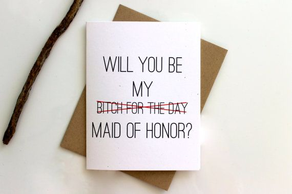 Will you Be My Maid of Honor Card Maid of Honor by PattersonPaper