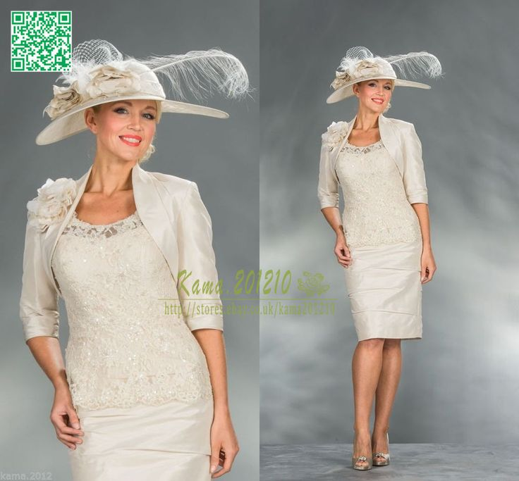 Champagne mother of the bride lace dresses wedding guest for Dress and jacket for wedding guest