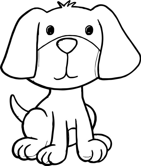 35 Easy Cartoon Dog Sitting Down Drawings To Make In 2020 With