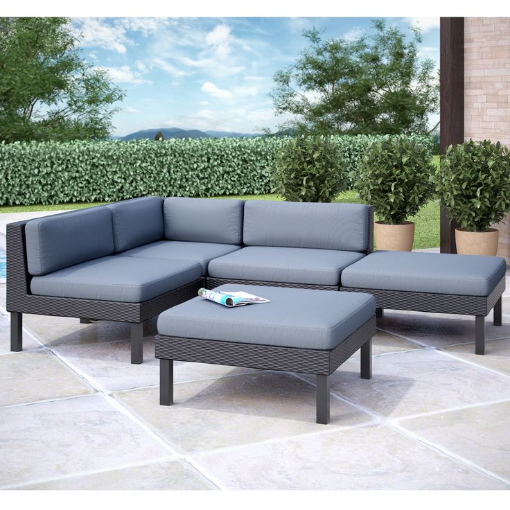 Corliving Oakland Sectional With Chaise Lounge Patio Set Overstock Shopping Big Discounts On Corliving Sofas Chairs Sectionals