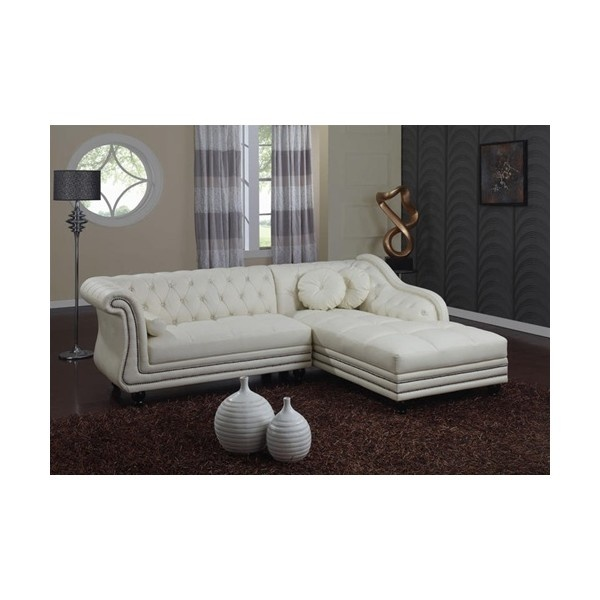 Edrick Tufted Leather Sectional Sofa Tufted Furniture Leather Found On Polyvore The Huckster