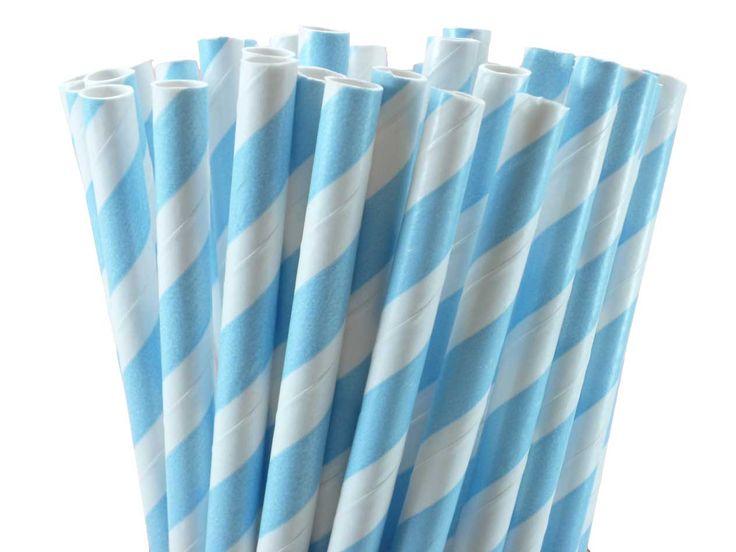 Blue Stripe Vintage Paper Straws