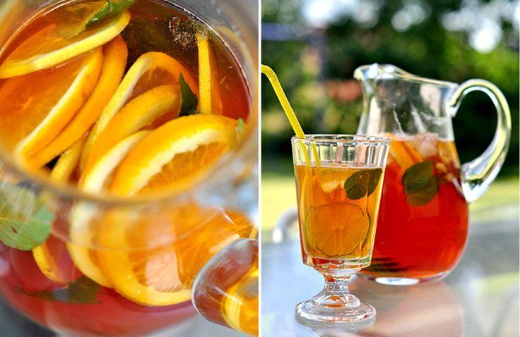 mrożona herbata, mrożona herbata przepis, domowa mrożona herbata, ice tea, herbata, herbata przepis,