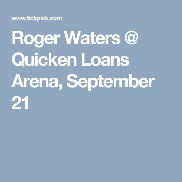 Roger Waters @ Quicken Loans Arena, September 21