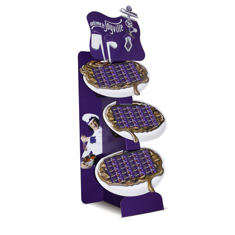 Cadbury Joyville Free Standing Display Unit which features battery-powered revolving whisk. *** Design, print and build by The Printed Image in Ireland. ***
