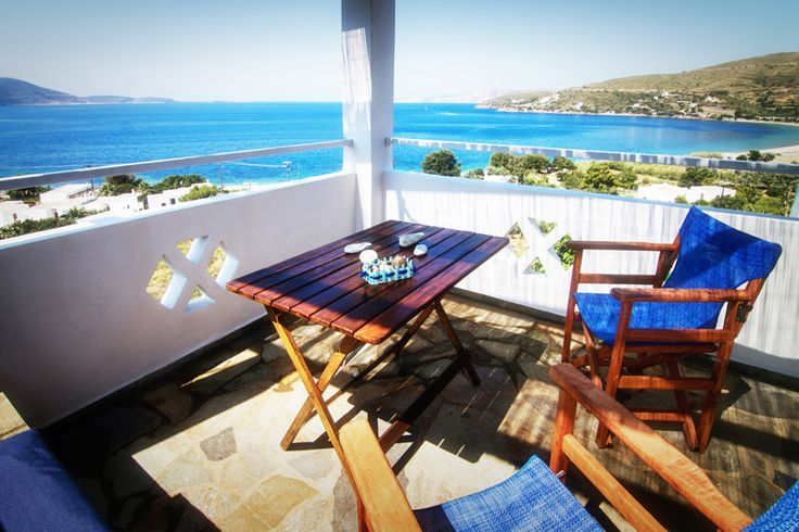 Fully equipped and furnished apartments with superb sea views and ample parking, at Kalamitsa Skyros Greece