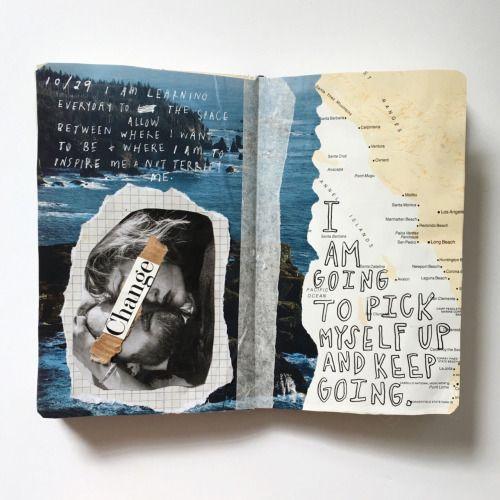 florallpeach: positivity pls (Art Journaling)
