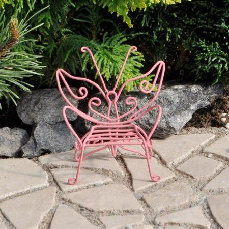 Miniature Pink Butterfly Chair. 77 best images about Mini Garden Furniture on Pinterest   Vines