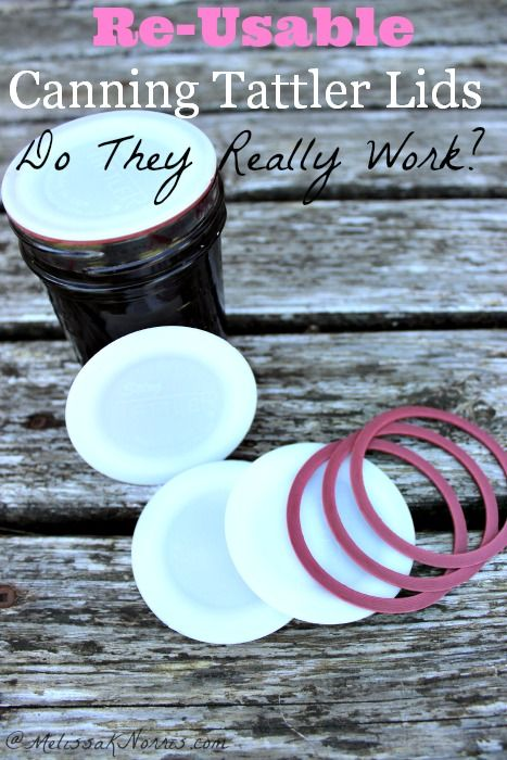How I Preserve Foods - Re-Usable Tattler Canning Lids- Do they really work? Great review on using Tattler canning lids and what to expect. I'd love to be able reus...