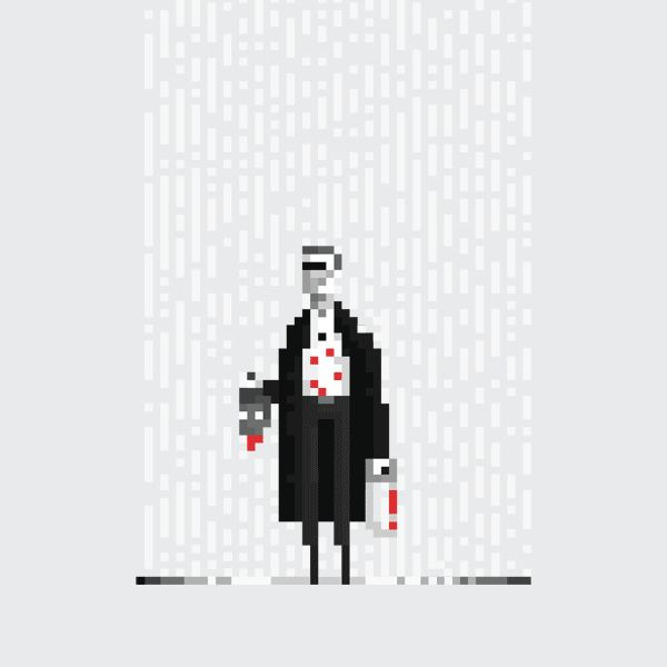 8 of Your Favorite Cult Movies Brought to Life as 8-Bit GIFs | Sin City  Dusan Cezek  | WIRED.com