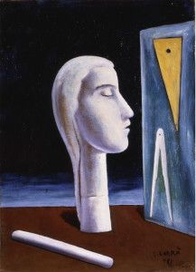 Carlo Carrà The Engineer's Mistress (L'amante dell'ingegnere), 1921 Oil on canvas, 55.1 x 39.9 cm Gianni Mattioli Collection, On long-term loan to the Peggy Guggenheim Collection, Venice © 2010 Artists Rights Society (ARS), New York/SIAE, Rome