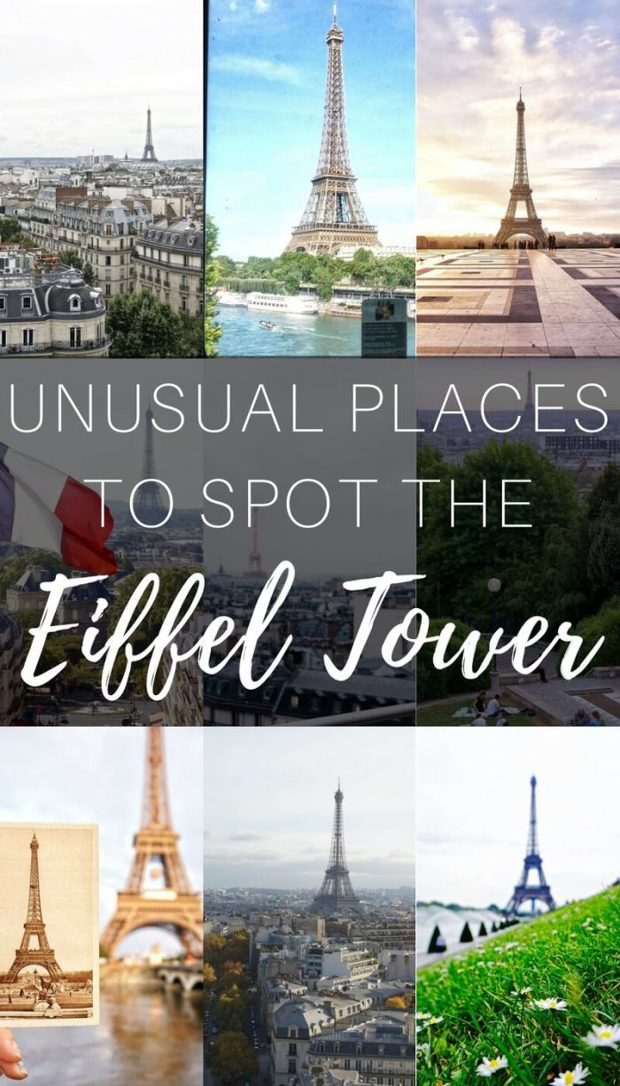 Unusual Places to Spot the Eiffel Tower in Paris, France