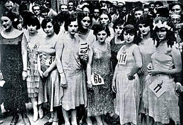 1929 yılı,melek cinemasında yapılan güzellik yarışması