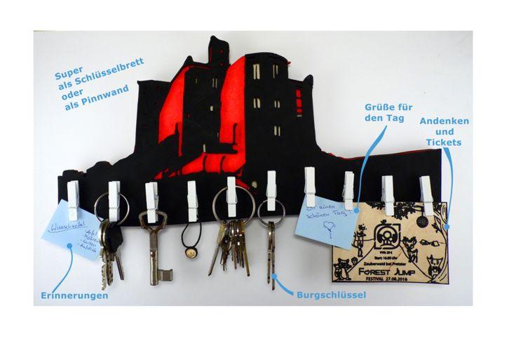 """Schlüsselbretter & -kästen - heldensagen Schlüsselbrett - """"Warkworth Castle"""" - ein Designerstück von heldensagen bei DaWanda"""
