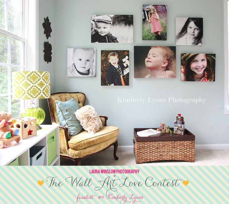 the Wall Art Love Contest Finalists :: Vote for your Favorite Wall Now! :: Laura Winslow Photography: Wall Art, Wall Colors, Canvas Photos, Photos Canvas, Photos Wall, Canvas Pictures, Photos Display, Wall Display, Kids Rooms